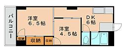第一プリンスビル[10階]の間取り