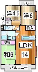 スプリングハイツ(東所沢)[2階]の間取り