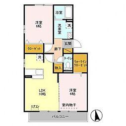 第7シーダーハウス[302号室号室]の間取り
