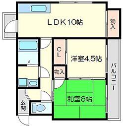 レジデンスmimiy[3階]の間取り