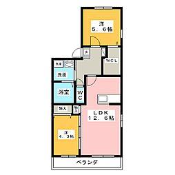 Luminous MISAKI[3階]の間取り