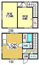 [タウンハウス] 福岡県北九州市小倉南区上石田1丁目 の賃貸【/】の間取り