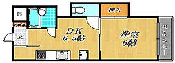 メゾンドフローレンス[3階]の間取り