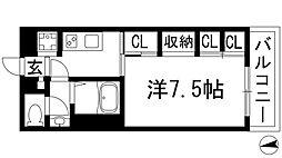 兵庫県川西市日高町の賃貸アパートの間取り