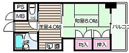 グレイスフル中崎I[4階]の間取り