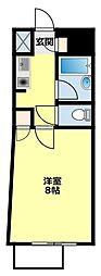 愛知環状鉄道 八草駅 徒歩15分の賃貸マンション 3階1Kの間取り