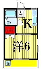 バーディートライホームズ[1-206号室]の間取り
