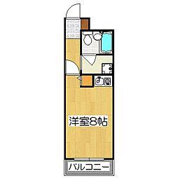 レスポアール四条大宮[6階]の間取り