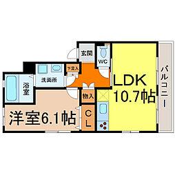 Fika kanayama(フィカカナヤマ)[2階]の間取り