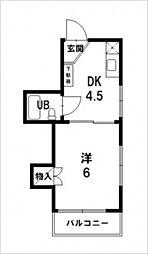 トワルージュ東高須[2階]の間取り