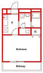 アンプルールフェールユウファーム −Yu Farm[1階]の間取り
