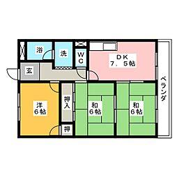 メゾン花池[1階]の間取り