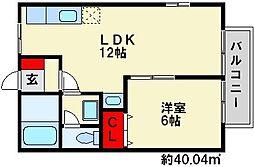KASUGA壱番館[2階]の間取り