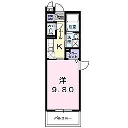 静岡県浜松市中区葵西3丁目の賃貸マンションの間取り