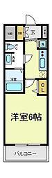 アクアプレイス天王寺2[7階]の間取り