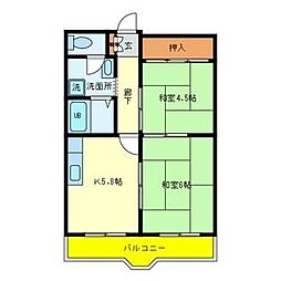 エスポワール福島[202号室]の間取り