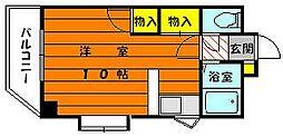 福岡県福岡市東区松崎4丁目の賃貸マンションの間取り