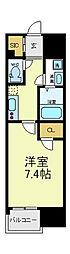 JPレジデンス大阪上町台[6階]の間取り