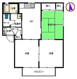 アンキハウスB棟[2階]の間取り