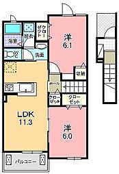フルミネンセ B[2階]の間取り