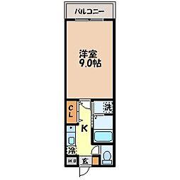 リバーサイドハウス[6階]の間取り