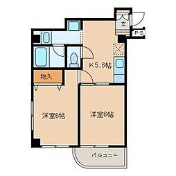 107セゾン[5階]の間取り