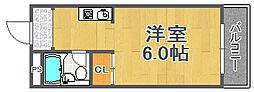 兵庫県宝塚市月見山1丁目の賃貸アパートの間取り