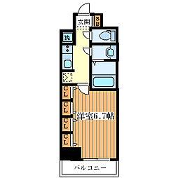 サムティ大阪WESTグランジール[9階]の間取り