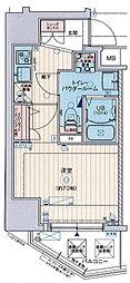 Osaka Metro谷町線 阿倍野駅 徒歩6分の賃貸マンション 4階1Kの間取り