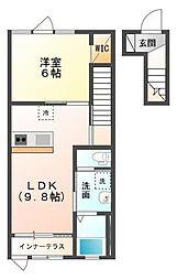 木更津市金田東1丁目新築アパート[205号室]の間取り