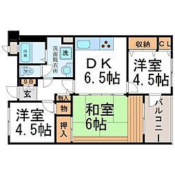 アミング潮江15−2[5階]の間取り