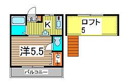 ルチェンテ[1階]の間取り