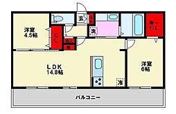 D-room南福岡参番館[2階]の間取り