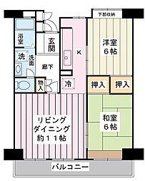 美浜東エステート6号棟[5階]の間取り