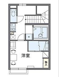 東京都八王子市弐分方町の賃貸アパートの間取り