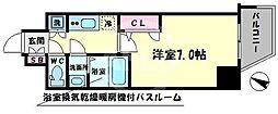 ファーストステージ江戸堀パークサイド 12階1Kの間取り