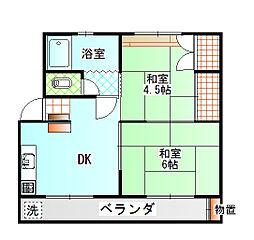 富士紙加工所アパート[1階]の間取り