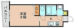 福岡県福岡市博多区博多駅前1の賃貸マンションの間取り