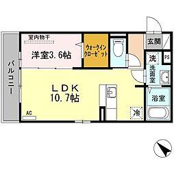 D-room博多駅南[3階]の間取り