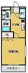 三重県鈴鹿市国府町の賃貸アパートの間取り
