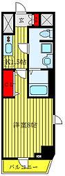 都営三田線 白山駅 徒歩8分の賃貸マンション 4階1Kの間取り