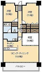 ポレスター宮崎ザ・レジデンス[10号室]の間取り