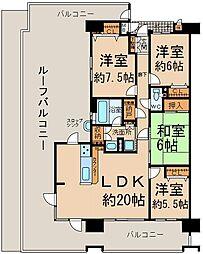 ルーフバルコニー付き 角部屋 4LDK 専有面積98.92?(壁芯面積)