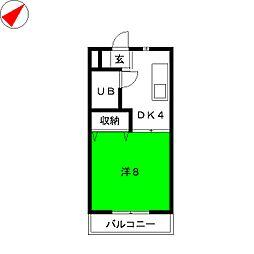 ココスI[2階]の間取り