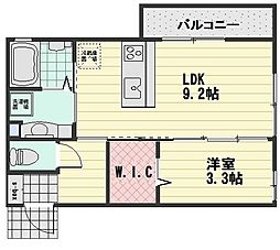 (仮)D-room大町西3丁目[203号室]の間取り