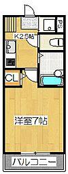 ラオム21[103号室]の間取り