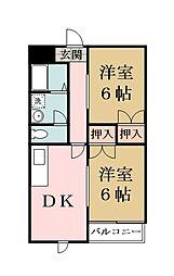 クレスト秋山[304号室]の間取り