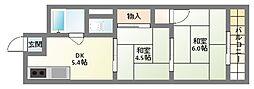 ニタカビル[4階]の間取り