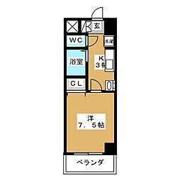 アルバ則武新町[8階]の間取り