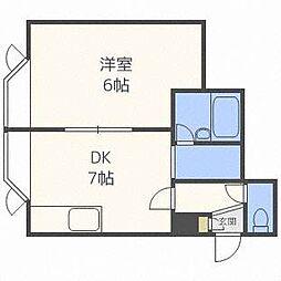 北海道札幌市北区北十四条西1丁目の賃貸アパートの間取り